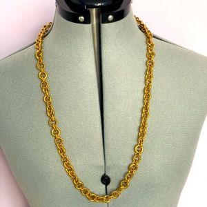 Juicy Couture chain link necklace (gold)